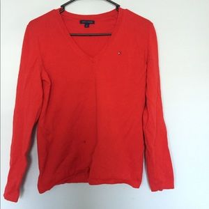 Red Tommy Hilfiger long sleeve top