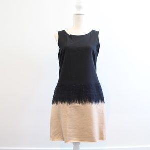 Alice + Olivia Wool Colorblock Sleeveless Dress