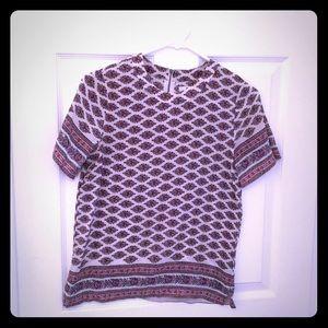 Madewell Silk Printed Top