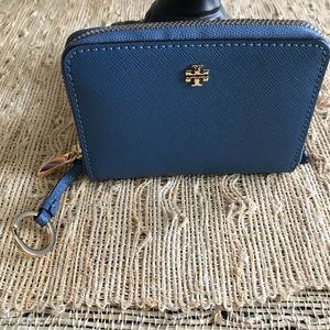 New Authentic Tory Burch Robinson Zip Coin Case