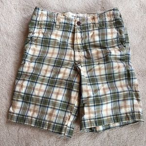 AEO Men's Plaid Shorts.