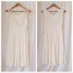 Eliza J Jeweled Shoulder Dress