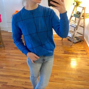 Vintage John Ashford Blue Crew Neck Sweater