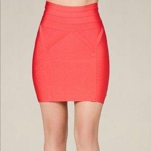 Bebe orange bandage skirt