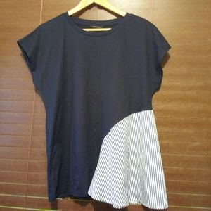 Banana Republic  Navy with blue and white stripes