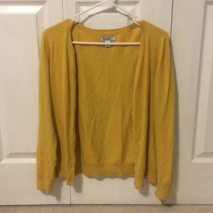 Simple Mustard Colored Cardigan - Medium