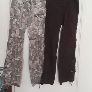 Camo and brown light weight pants