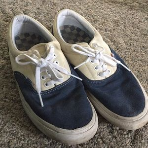 blue and white mens vans