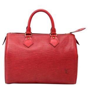 Louis Vuitton Red Epi Speedy ❤️