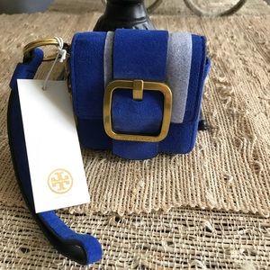 New Authentic Tory Burch Sawyer Mini Bag Key Fob