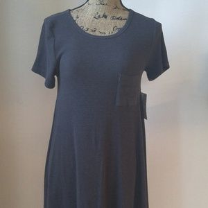 Lularoe Carly Solid charcoal grey Size XXS Dress