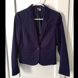 Navy Blue Blazer Jacket H&M