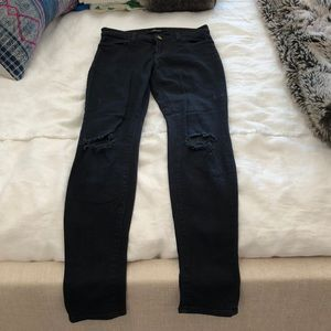 J brand black distressed skinny jeans