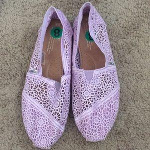 Lavender Lace Toms