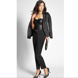 One Clothing Faux Leather Strapless Jumpsuit