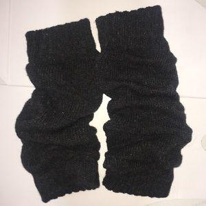 Gray Knit Leg Warmers