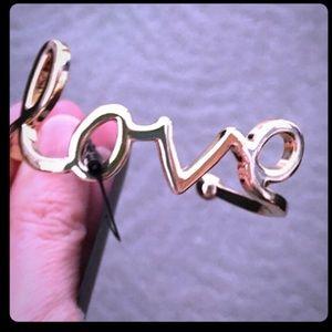 NWT gold tone LOVE bangle cuff