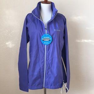 NWT Columbia Lightweight Lavender Rain Jacket