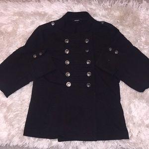 Express military inspired black jacket