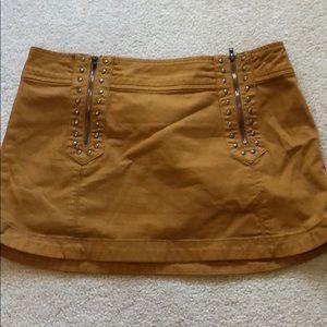 Free People studded mini skirt sz 8