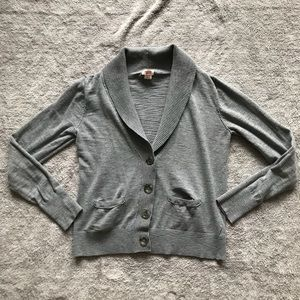 Mossimo Gray Button Up Cardigan Sz XL