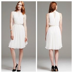 Banana republic ivory chiffon dress