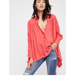 Free People 'Lovely Day' Buttondown Top