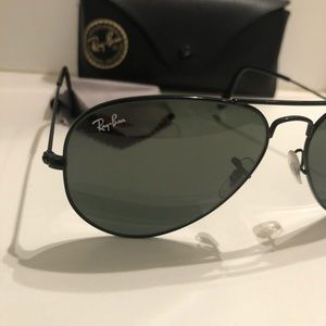 Authentic black on black Ray Bans