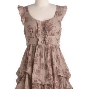 """ModCloth """"Tea Leaves"""" Country bubble boho dress"""