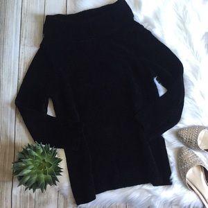 Rafaella   Soft Black Cowl Neck Sweater