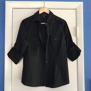 Victoria's Secret Black Safari Style Button Shirt