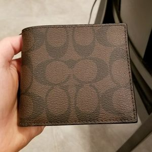 Men's Authentic Coach Compact ID Wallet