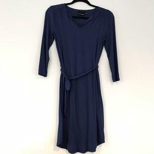 Navy blue dress by Cynthia Rowley