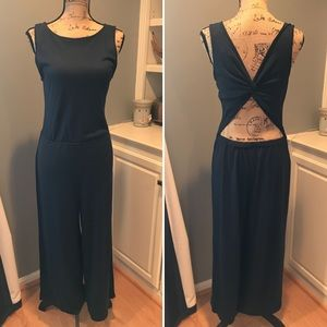 Loft Navy Jumper W/ Back Cut-Out