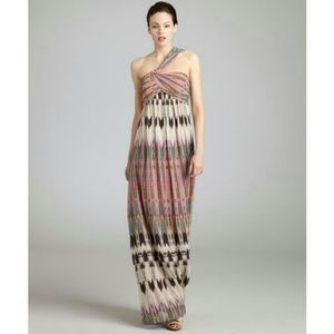 Nicole Miller Arrowhead Print Silk/Chiffon Dress