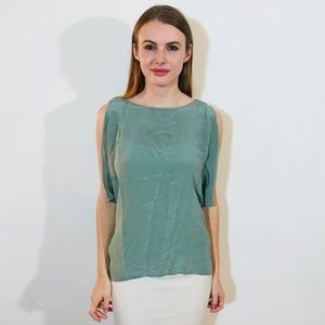 HUNTER DIXON SILK CUT OUTS SEAFOAM TOP S #933
