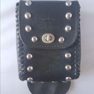 Vintage Brunson Leather Studded Motorcycle Bag USA
