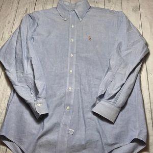 Ralph Lauren Men's Dress Shirt Blue 15 1/2 33 Med