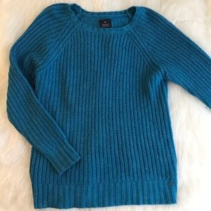 Teal American Eagle Knit Jegging Sweater