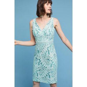 Maeve Gardenia Lace Column Dress in mint, NWT sz 4