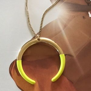 J.crew Dipped semicircle pendant necklace, NWT