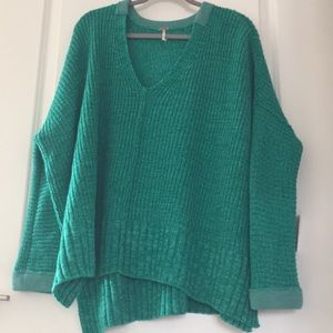 NWT Free People Take Me Over V-Neck sweater XS/S