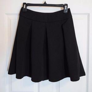Black Pleated Circle Skirt