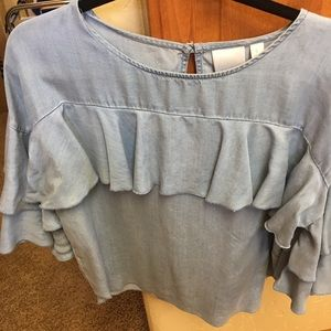 Super cute and frilly Lauren Conrad blouse