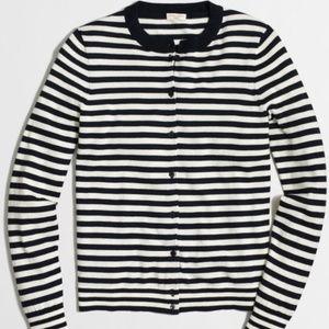 J.Crew Striped Cardigan Sweater, S