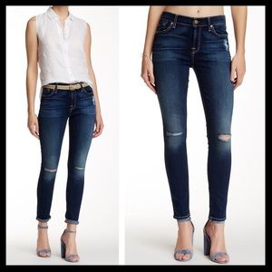 7 for all mankind // distressed gwenevere jeans