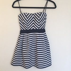 Cute Forever 21 strapless striped short dress s/p