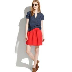 Madewell Red Ponte Swivel Skirt Size 2