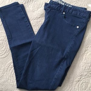 Express Stella Navy jean leggings Sz 6