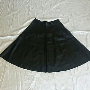 NWT F21 black faux leather circle skirt